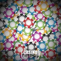 Vector a ilustração em um tema do casino com a cor que joga microplaquetas.