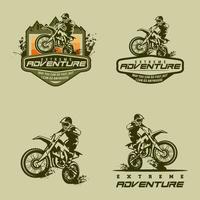 vetor de logotipo de motocross
