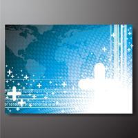 Fundo de negócios com o mapa do mundo vetor
