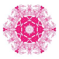 Mandala esotérico floral do vintage redondo do ornamento.