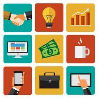 Elementos de negócios vetor