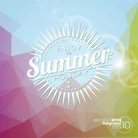 De fundo Vector sobre um tema de férias de verão.