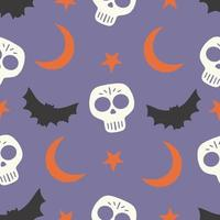 padrão sem emenda de halloween para design. símbolos de halloween vetor