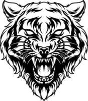 silhueta da cabeça do tigre vetor