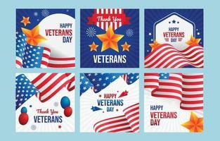 mídia social do dia dos veteranos vetor