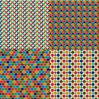 Padrões de azulejos marroquinos vetor