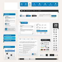 Modelo de elemento de design da Web.