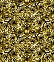 A linha teste padrão sem emenda tailandês, arte tradicional tailandesa foi modificada para ser goldtone.