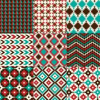 padrões geométricos nativos de amrican vetor