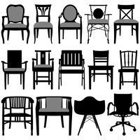 Design da cadeira. vetor