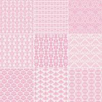 padrões de damasco rosa