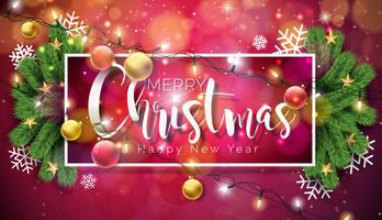 Feliz Natal e Feliz Ano Novo Ilustração