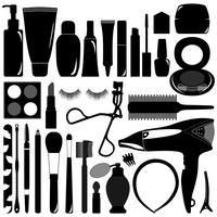 Maquiagem e produtos cosméticos.