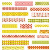 Clipart de fita vintage Washi padrão