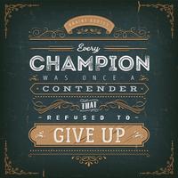 Cartaz de citação de motivação de negócios e desporto vetor