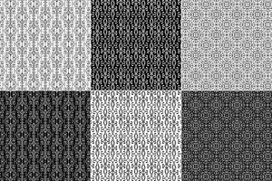 Padrões de ferro forjado preto e branco