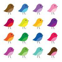 ilustrações de clipart de pássaros bonitos vetor