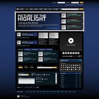 Web design site elemento modelo botão.