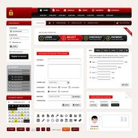 Web Design site elemento vetor.