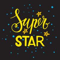 A frase Super estrela. Lettering vetor