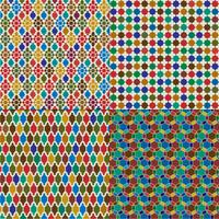 padrões de azulejos marroquinos coloridos vetor