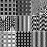 Padrões de arte Op preto e branco vetor