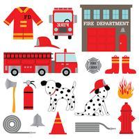 clipart de bombeiro vetor