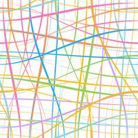 Linha padrão sem emenda na arte gráfica de vetor.