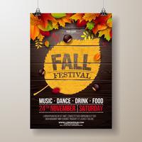 Ilustração de panfleto de festa de outono