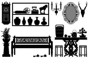 Design de móveis antigos. vetor