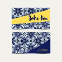 Cartão de visita azulejos portugueses.