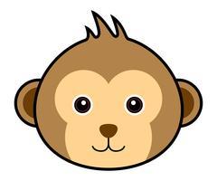 Vetor de macaco bonito.