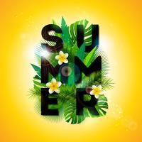Ilustração tipográfica de férias de verão