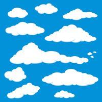 Vetor do céu azul da nuvem.