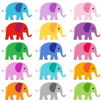 gráficos de clipart de elefante vetor