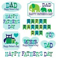 clipart de dia dos pais de elefantes de corujas