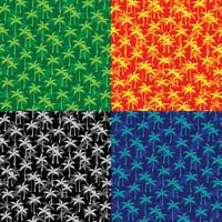 padrões de palmeira em camadas vetor