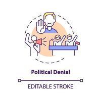 ícone do conceito de negação política vetor