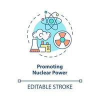 promovendo o ícone do conceito de energia nuclear vetor