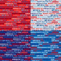 padrões de listra vermelho branco azul EUA tipografia