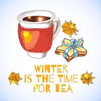 elementos do tempo do chá vetor