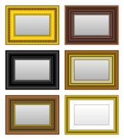 Espelho da foto da imagem do quadro. vetor