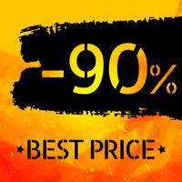 Cartaz de design grungy vintage de vetor de venda