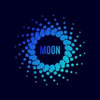 cartaz Luna. Meio-tom vetor