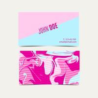 Cartões cor-de-rosa com um chique gasto