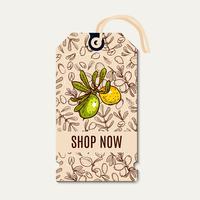 Tags venda em estilo ecológico. vetor