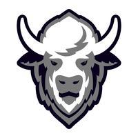 Mascote de logotipo de cabeça de búfalo