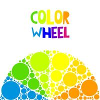 Roda de cores ou círculo de cor no fundo