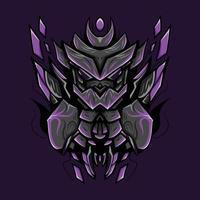 ilustração de arte violeta mecha vetor