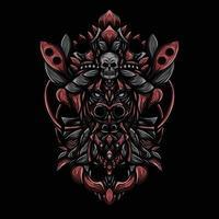 ilustração de arte vetorial bruxa negra vetor